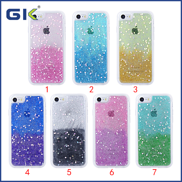 Funda Tpu Con Doble Colores Gradientes De Brillantina Y Epoxy Para